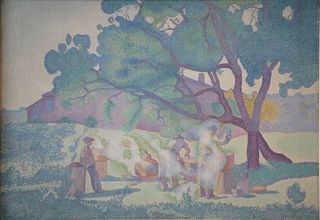 Henri-Edmond Cross, La ferme, matin